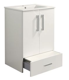 Cooke & Lewis Kiddie Step Gloss White Vanity Unit & Basin | Departments | DIY at B&Q