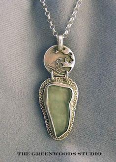 ☮ American Hippie Bohemian Style Boho Jewelry ~ Silver Necklace