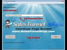 How To Use Sales Funnel Ninja Download Page Builder
