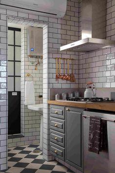 Индустриальный стиль апартаментов в Сан-Паулу