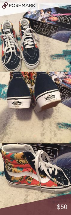 713e7fd786ffe Shop Women s Vans Blue size 6 Sneakers at a discounted price at Poshmark.  Description  New Star Wars Vans in good condition.