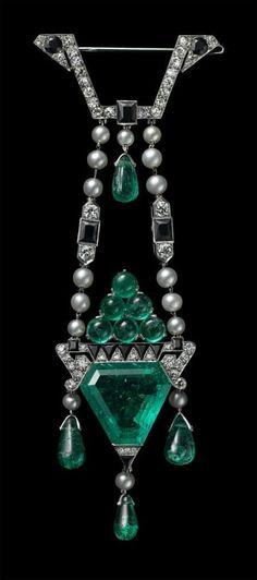 Colgante de esmeraldas