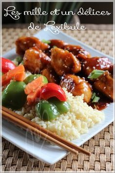 Chinese Food, Japanese Food, Poulet General Tao, Asian Recipes, Ethnic Recipes, Mets, Kung Pao Chicken, Sushi, Food And Drink