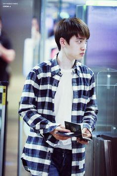 140702- EXO D.O. (Do Kyungsoo) @ Incheon Airport, arrival from Hongkong Airport #exok #fashion