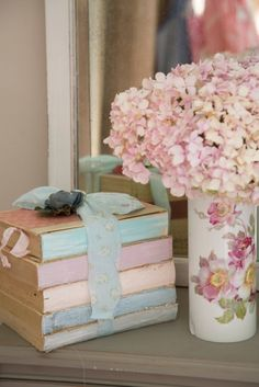 books and bouquet