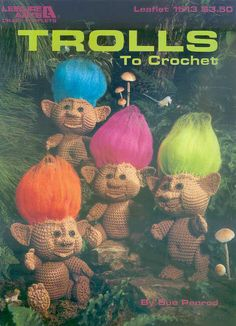 Troll crochet Pdf vintage pattern-amigurumi pattern from 1980 (pattern only not the finished product) Amigurumi Patterns, Amigurumi Doll, Doll Patterns, Vintage Patterns, Crochet Patterns, Crochet Crafts, Crochet Dolls, Crochet Projects, Crochet For Kids