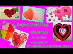 Manualidades de corazones Ideas para hacer un corazón para regalar diy retos semanales manualidades - YouTube