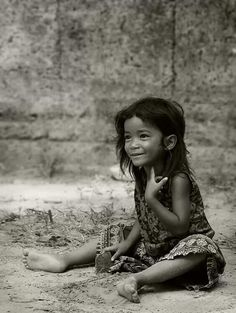 Cambodia, so cute.. Please let me know she has a future....