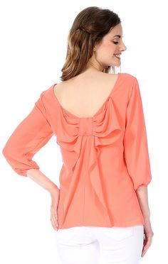 Bianca Convertible Bow Top in coral chiffonhttp://greek.shoprevelry.com/bianca-convertible-bow-top/