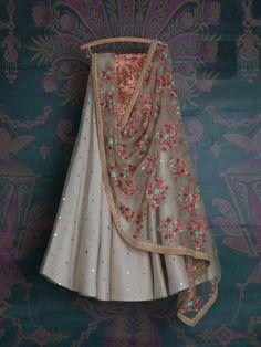 Off white embroidered wedding lehenga, bridal lengha choli, indian bride, indian wedding dress, whit - Lengha Choli, Lehnga Dress, Indian Lehenga, Indian Gowns, Indian Attire, Indian Wear, Gharara Pants, Lehenga Skirt, Lehenga Blouse
