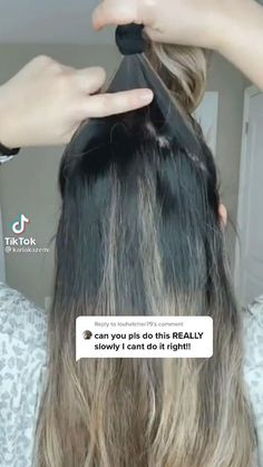 Hair Scarf Styles, Hair Up Styles, Medium Hair Styles, Cool Braid Hairstyles, Summer Hairstyles, Curl Hair With Straightener, Messy Ponytail, Hair Videos, Hair Hacks