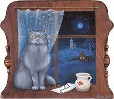 iva huttnerová obrazy - Поиск в Google Stage Decorations, Cat Art, Birthdays, Calculator, Disney Princess, Disney Characters, Illustration, Frame, Artist