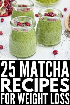 From easy drinks to delicious breakfast and dessert recipes made with matcha powder, these matcha recipes will NOT disappoint! Green Tea Smoothie, Matcha Smoothie, Tea Smoothies, Smoothie Recipes, Green Smoothies, Matcha Chia Pudding, Smoothie Ingredients, Smoothie Diet, Drink Recipes