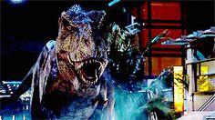Rexy attacks Jurassic World