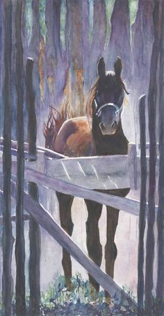 Oversized Year of the Horse Panoramic CANVAS Taos Morgan Stallion WaterColour Amazing CANVAS Art  10x20 long and Gorgeous bitcoin accepted