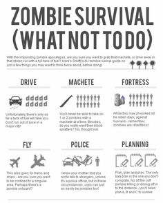 What NOT to do in a Zombie Apocalypse! (INFOGRAPHIC)