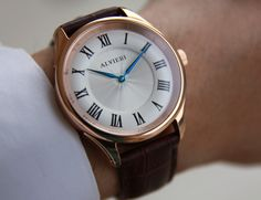 Alvieri - The watch has a convex hour track on the dial.