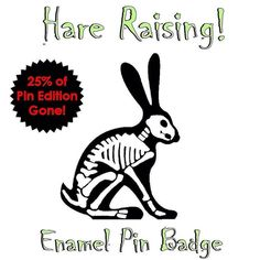 #Repost @flyingcheesetoastie  Been toting up the #Kickstarter pledges and 50 of the 200 #enamelpins I'm making are already gone after 2 days! If you've thinking about getting one then I'd get in quick! LINK IN MY PROFILE  #limitededition #skeleton #bones #xray #anatomy #skull #rabbit #bunny #hare #halloween #flair #pingame #pinsofig #pinstagram #glowinthedark #metalpin #hatpins #lapelpins #funded #crowdfunding #pincollector #pinaddict #pingamestrong    (Posted by https://bbllowwnn.com/) Tap…
