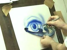 This is a basic airbrush skill set they i teach in a quot;how to airbrush dvd quot; you can view my art at warmachineart com and warmachinetees com watch for mad airbrush art Airbrush Designs, Airbrush Art, Airbrush Makeup, Air Brush Painting, Painting Tips, Spray Painting, Dark Fantasy Art, Self Branding, Marquesan Tattoos