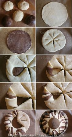 brioche couronne marbrée 3 - cuisine à 4 mains