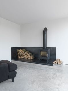 35 Cool Scandinavian Fireplace Design Ideas To Amaze Your Guests Home Fireplace, Fireplace Design, Fireplace Ideas, Black Fireplace, Gas Stove Fireplace, Wood Burner Fireplace, Minimalist Fireplace, Simple Fireplace, Pellet Stove