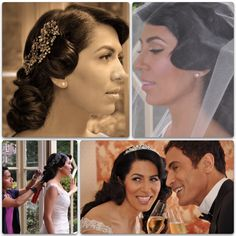 Bridal Make Up and Hair for Anouscha and Farzin , Amsterdam , The Netherlands in vintage hair styles