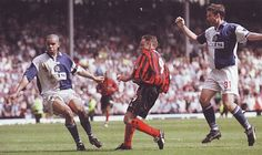 Blackburn Rov 1 Man City 4 in May 2000 at Ewood Park. Paul Dickov scores on 81 minutes to make sure of promotion to the Premier League. 2000s, Scores, Premier League, Promotion, Football, Baseball Cards, Park, City, Hs Football