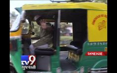 """Ahmedabad : Uday Sinh, an atypical Amdavadi auto-driver, with a Gandhi Topi, having unique rickshaw, which has facilities that are not even found in cabs. While there are newspapers, magazines and other literature to read, two containers on the left and right hand side of the back saying """"love"""" and """"truth"""" holding snacks and water bottles for the passengers. There is also a dust bin so that the riders do not spill thrash on to the streets."""
