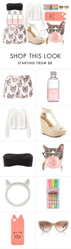 """""""Let's get Cataholic"""" by catlourenco ❤ liked on Polyvore featuring Markus Lupfer, Lord & Berry, Rebecca Taylor, JustFab, Charlotte Russe, Retrò, Marc by Marc Jacobs, Hello Kitty, H! by Henry Holland and STELLA McCARTNEY"""