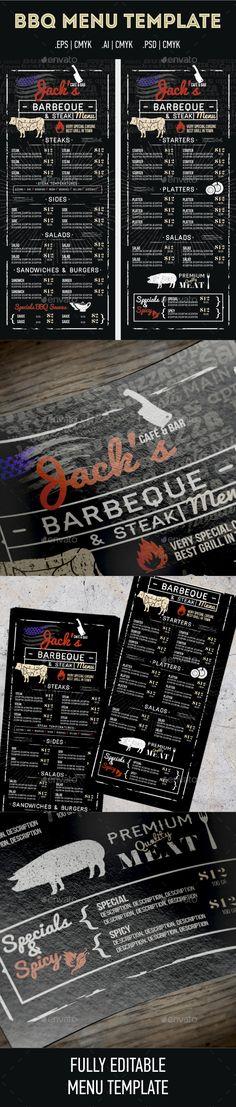 Steak Bar #Menu - #Food Menus Print Templates Food  Restaurant - bar menu template