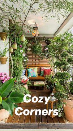 Small Balcony Design, Small Balcony Garden, Small Balcony Decor, Balcony Plants, House Plants Decor, Patio Plants, Small Patio, Balcony Gardening, Potted Plants