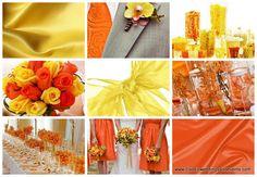 yellow and orange wedding | http://www.classicweddingsandevents.com/