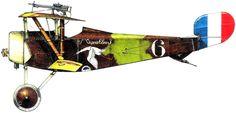 Nieuport 16 C1 Unit: Escadrille N3 Serial: 6 Pilot - Sergeant Andre Chainat (11 victories).