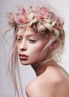 Love this crazy hair, it would be fun to work with braids