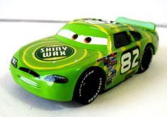 Disney Pixar Cars Shiny Wax No. 82 Racing Car 1/55 Die Cast Toy Green #Disney