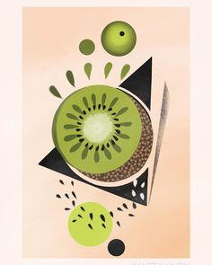 "Marta Kudu on Instagram: ""Available design 🥝🥝🥝🌟 #polandtattoo #warsawtattoo #tattooideas #tattoo #illustrations #fruit #fruittattoo #wannado #tattoogirl #kiwi…"""