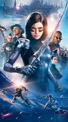 Alita: Battle Angel is a 2019 American cyberpunk action film based on Yukito Kishiro's manga series Gunnm, also known as Battle Angel Alita. Directed by Robert Rodriguez, the film is written by James Cameron and Laeta Kalogridis New Movies, Good Movies, Manga Cover, Alita Battle Angel Manga, Angel Movie, Female Cyborg, Angel Wallpaper, Iphone Wallpaper, Wallpaper Art