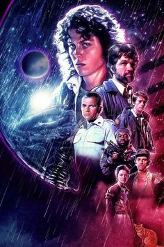 Alien by Blake Armstrong - Home of the Alternative Movie Poster -AMP- Alien Movie Poster, Alien Film, Aliens Movie, Horror Movie Posters, Alien 1979, Arte Alien, Alien Art, Cult Movies, Sci Fi Movies