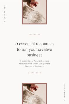 My 5 Favorite Creative Business Resources — Studio Antheia - Pony Frisur Branding Your Business, Business Design, Creative Business, Business Tips, Online Business, Personal Branding, Online Entrepreneur, Business Entrepreneur, Business Marketing