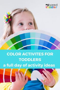 A day of planned out color themed activities including songs dances crafts sensory and gross motor skills - all for toddlers aged 12 3 or 4 Color Activities For Toddlers, Rainbow Activities, Kids Learning Activities, Toddler Learning, Hands On Activities, Infant Activities, Toddler Preschool, Educational Activities, Fun Learning