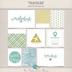 Traveler Project Life Cards by Teal Lime Press on Etsy