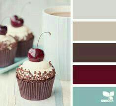 bedroom color palette - slate gray / storm grey, turquoise / ocean