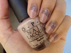 Nude & Lace  OPI's Tickle My France-y stamped with Konad plate m71 using OPI's Black Onyx