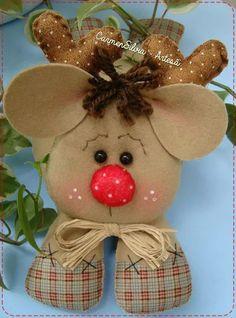 Reno Christmas Fabric Crafts, Felt Crafts Diy, Decor Crafts, Santa Christmas, All Things Christmas, Felt Decorations, Christmas Decorations, Christmas Characters, Xmas Ornaments