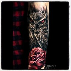 My next tattoo! Switching up the rose with a carnation and adding a yellow rose bud. Also going to make the owls eyes blue to represent my Grandma!! So can't wait!