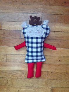 Minne Love Reindeer Doll by mplsmomma on Etsy #reindeer #christmas #holiday2014 #holiday #toys #kids #doll #minnesota #minneapolis Reindeer Christmas, Holiday 2014, Minneapolis, Minnesota