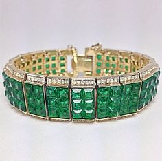 Insanely Rare Trifari Alfred Philippe Emerald by AveryCollection