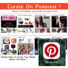 #Curate at your #Leisure !  #RobinSaffron on #Pinterest .. Showing Chicago #Stylemax !   Please Peek In Booth 6048, Jan.24-26 / Sun Mon Tues  #SS2016