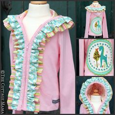 Embellished Hoodie Tutorial by The Cottage Mama (Lindsay Wilkes) for Riley Blake Designs.