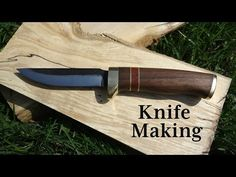 Knife Making with Wood and Brass Handle - YouTube